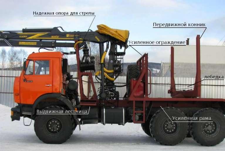Лесовоз на шасси КАМАЗ 43118-50 с гидроманипулятором VM10L