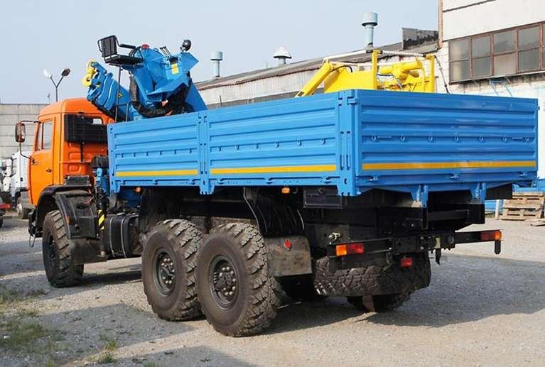 Бортовой КАМАЗ 43118-50 с КМУ INMAN ИМ-150