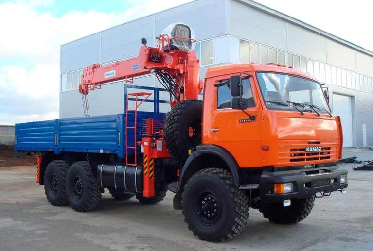 Бортовой автомобиль Камаз 43118-50 с КМУ Kanglim 1256GII