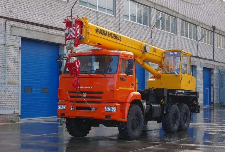 Автокран ИВАНОВЕЦ КС-35714К-2 (ОВОИД) на шасси КАМАЗ-43118