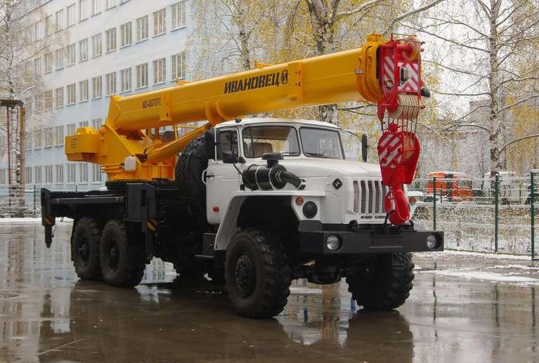 Автокран ИВАНОВЕЦ КС-45717-1 (ОВОИД) на шасси УРАЛ-4320