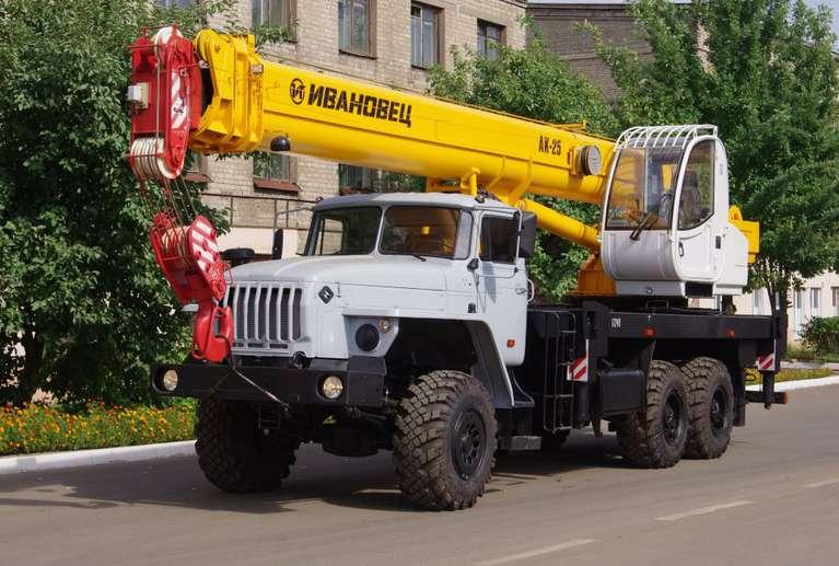Автокран ИВАНОВЕЦ КС-45717-1Р (ОВОИД) на шасси УРАЛ-4320