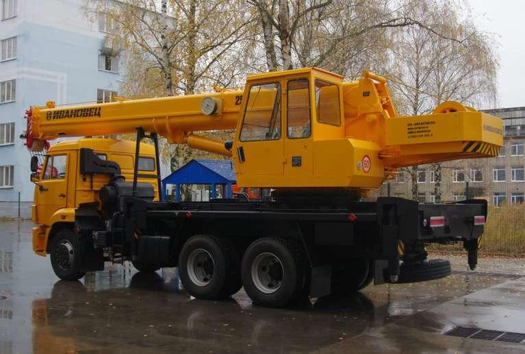 Автокран ИВАНОВЕЦ КС-45717К-1 (ОВОИД) на шасси КАМАЗ-65115