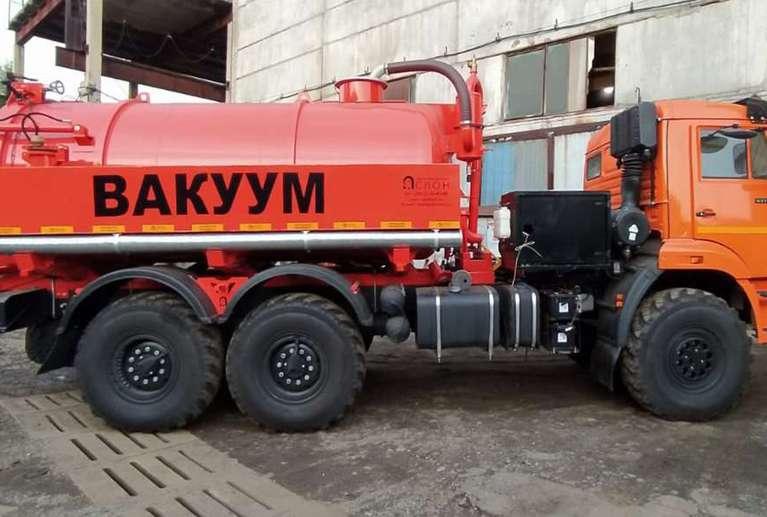 Вакуумная илососная машина МВС-10 на шасси КАМАЗ 43118-50 (насос PNR-124)