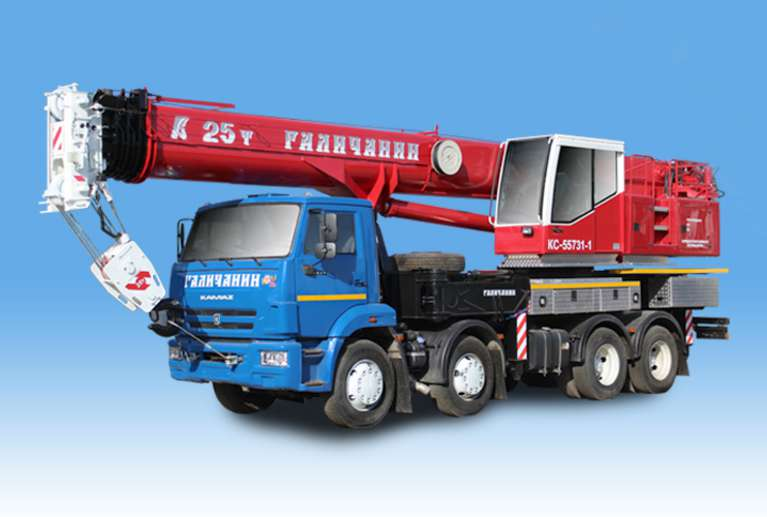 Автокран КС-55731-1 «Галичанин» (ОВОИД) на шасси КАМАЗ-6540