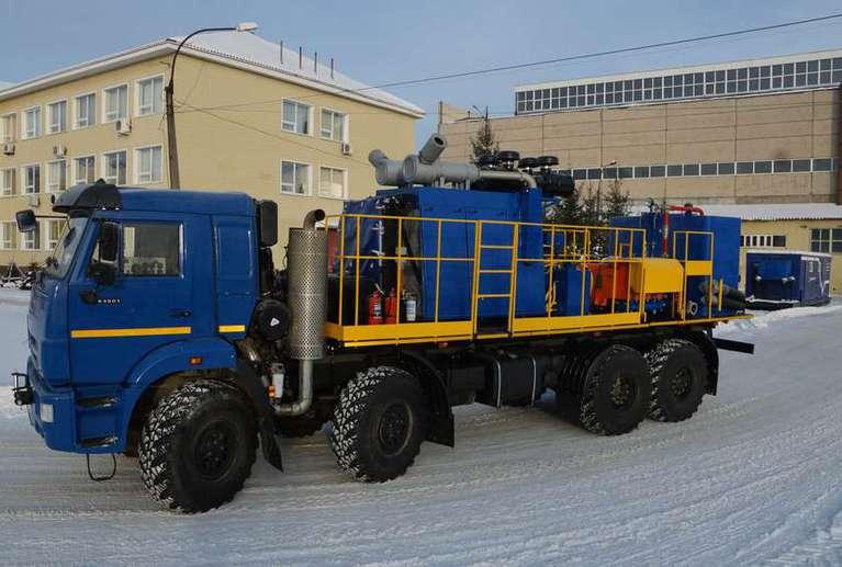 Универсальная насосная установка СИН31.64 на шасси КАМАЗ 63501-52 (для ГРП)