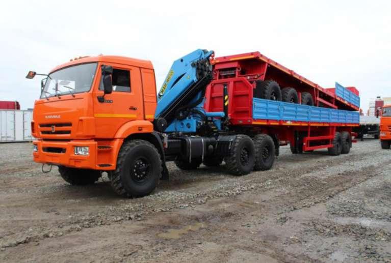 Седельный тягач КАМАЗ 43118 с КМУ ИМ-320