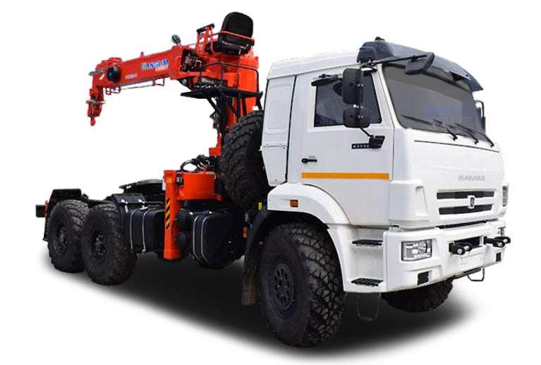 Седельный тягач КАМАЗ 43118-50 с КМУ Kanglim 1256GII